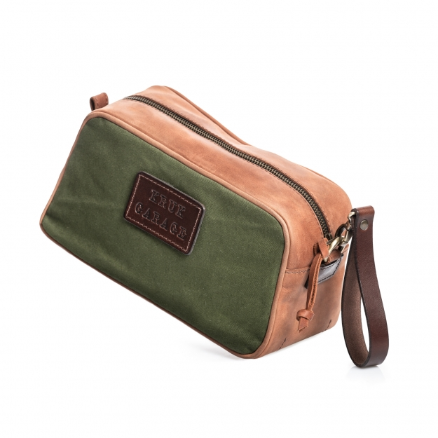 Canvas and Leather Dopp Kit P26