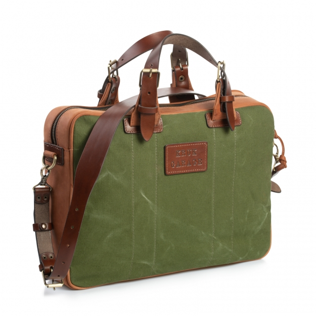 Leather and Canvas Briefcase 1.066