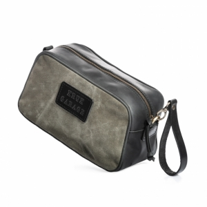Canvas and Leather Dopp Kit P28