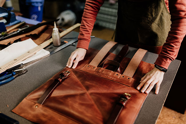 Crazy horse leather craft