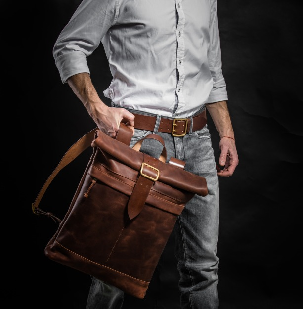 Cognac brown Backpack 2107
