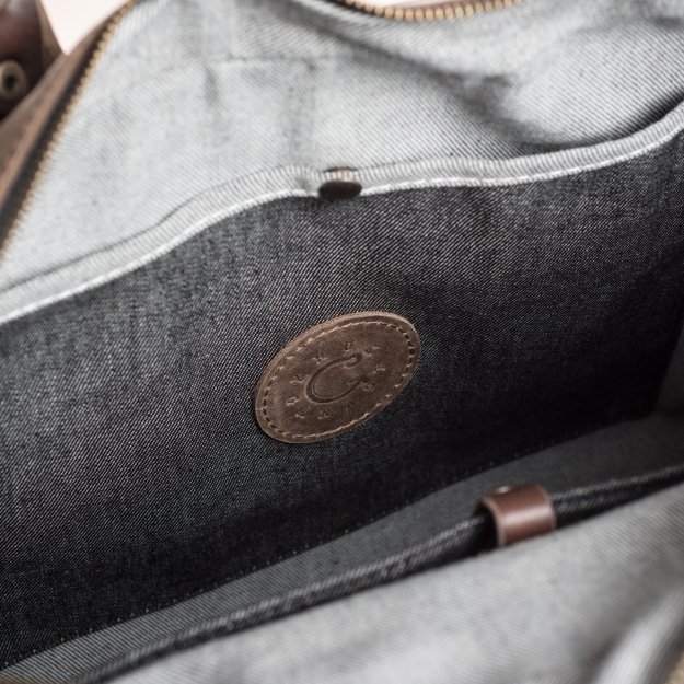 Leather and Canvas Briefcase 1.068