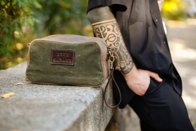 Canvas and Leather Dopp Kit P27
