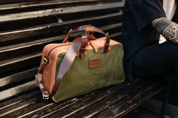 Leather and Canvas Weekender Bag 3.018