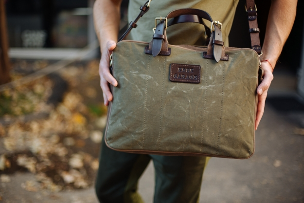 Leather and Canvas Briefcase 1.067