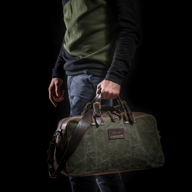 Leather and Canvas Weekender Bag 3.019