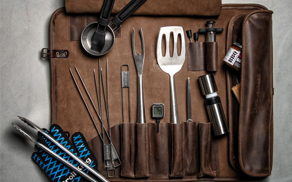 Leather BBQ/Grill Tool Set